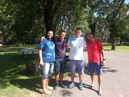 The Brasialian group in Mariapolis Lia - Buenos Aires (Arg)